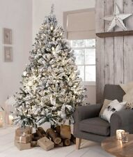 6 FT (ca. 1.83 m) Luxury FLOCCATI innevato artificiale rami degli alberi Neve Decorazione Natale NUOVO