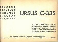 URSUS C-335 TRACTOR C335 PARTS MANUAL