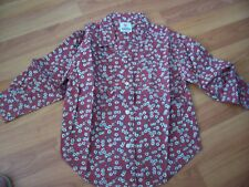 Rose pink long sleeved floral shirt from Adams, Age 3 yrsheight 98cm