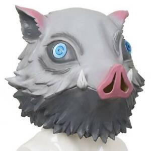 Halloween Demon Slayer Hashibira Inosuke Pig Horror Cosplay Mask Party Prop New