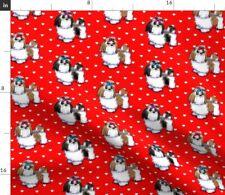 Shihtzu Dog Love Shih Tzu Catia Lee Cho Hearts Fabric Printed by Spoonflower Bty