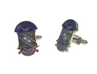 Phi Beta Sigma Fraternity Colored Silver Crest Cufflinks