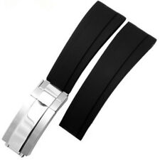 20mm Silicone Rubber Watch Strap For Rolex Yacht Master Oysterflex Watch Band