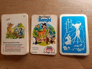 Vintage BAMBI Top Quartets CARD Game complete with rules