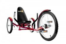 "MOBO Cruiser ""triton pro"" couchage vélo tricycle-vélo rouge"