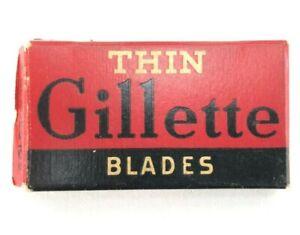 TRUE Vintage 1938 Gillette Razor Thin Blade Replacements LOT Antique Beard Mens