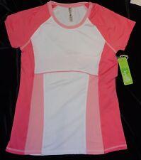 NWT Kyodan Sz Small S Workout Tennis Shirt Pink & White