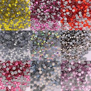 Crystal AB Hot Fix Rhinestone Glitter Strass Iron On Stones For Fabric Garment