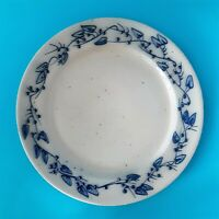 "VINTAGE SALMON FALLS STONEWARE BERRY VINE 10.75"" TABLEWARE 4 DINNER PLATE SET"