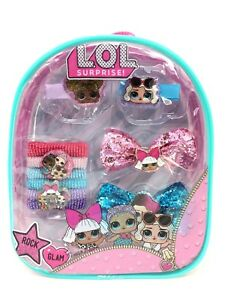 """L.O.L Surprise! Hair Accessories Mini 8"""" Backpack (Hair Clips, Bows, Ponies) …"""