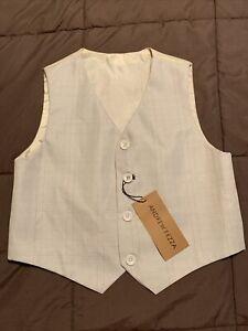 Andrew Fezza Vest Boys Size 6 Tan 4 Button