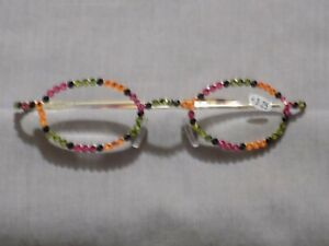Made with Swarovski Crystal Jeweled Reading Glasses +3.25 Bling Wire Frames NEW!