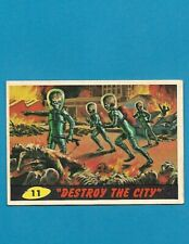 1962 MARS ATTACKS Nice Condition Alien Space War Card #11 Destroy The City