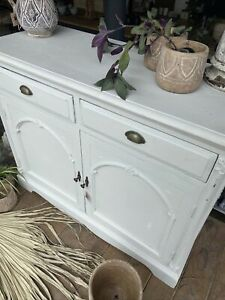 White Carved painted cupboard Sideboard Kitchen Lounge Hallway