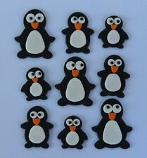 12 edible PENGUIN cake CUPCAKE topper DECORATION happy madagascar WINTER cute