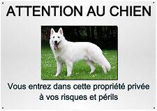 placa perro pastor blanco suizo metal 29 X 20 cm avance en la 4 cuño ref 33
