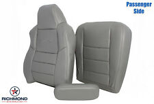 2002 Ford F250 Crew-Passenger Side COMPLETE Replacement Leather Seat Covers Gray
