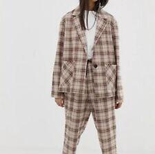 COLLUSION soft check blazer Size UK8 RRP£25 {N24}