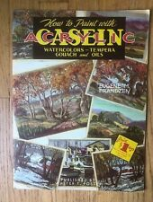 HOW to PAINT WITH ACRYLIC Casein Art Book Walter Foster