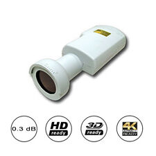 Invacom TWH-031 Universal 0.3db HD Ready Twin LNB With 40mm Feedhorn For UK E...