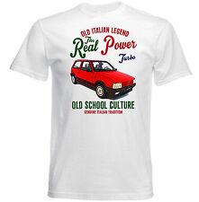 VINTAGE ITALIAN CAR FIAT UNO TURBO I.E. - NUOVA T-shirt di cotone