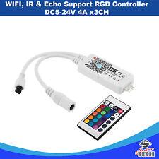Wifi, IR & Echo Support RGB Controller DC5-24V 4A x 3CH