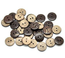 25 real de noix de coco couture boutons 15mm, bouton art, scrapbook, gratuit uk p&p