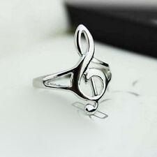 Mode Silber Farbe Musik Musik Note Ring Violinschlüssel Ring Schmuck Geschenk FB
