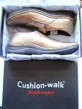 SUPERB Leather Moccasin Shoe by Cushion Walk Uk.7e & Boxed