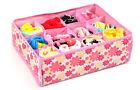 Fashion Case Socks Underwear Home Organizer 12 Cells Closet Drawer Storage Box