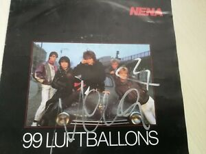 """Nena, Single """"99 Luftballons"""" mit Original Autogramm von NENA"""