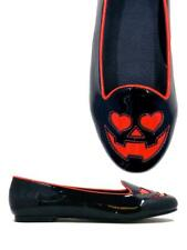 Strange Cvlt Cult YRU Jack o Lantern Pumpkin Valentines Day Hearts Flats Shoes