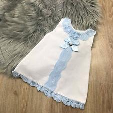 Spanish Girls Dress Spanish Baby Dress White and Blue A-Line Dress by Juliana