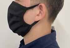 Pack 2 Masque En Tissu Noir Reutilisable 100% Coton Lavable 20 Fois
