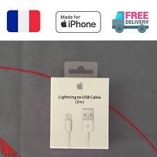 CABLE ORIGINAL APPLE USB VERS LIGHTNING 2M AVEC BOITE POUR IPHONE 5 6 7 8 X IPAD
