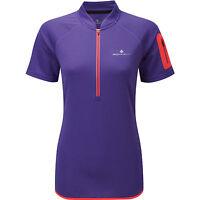 Ronhill women's Running Jogging Walking Trail 1/2 Zip short sleeve top RRP£38.00