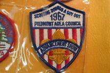 1967 PIEDMONT AREA COUNCIL, BSA Advancement Show, Boy Scout patch, VA Virginia