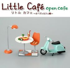 Megahouse Little Open Cafe -coffee shop furniture scooter Bar table Re-ment size