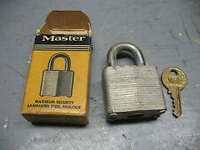 MASTER SECRET  SERVICE  PADLOCK  No. 3   MINT COND.  NEVER USED  ORIG. BOX !!