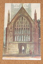 Vintage Postcard: Merton College, North Window of the Ante-Chapel, Oxfordshire