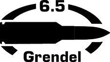 6.5 grendel AR gun Rifle Ammunition Bullet exterior oval decal sticker car wall