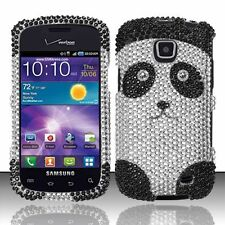 Samsung Galaxy Proclaim Crystal Diamond BLING Hard Case Phone Cover Panda