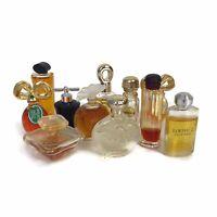 Lot 11 Vintage Mini Perfume Bottles Van Cleef Arpels Givenchy Elizabeth Taylor