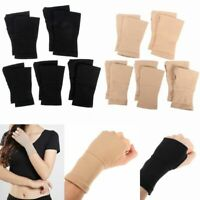 2X Wrist Hand Palm Support Breathable Tunnel Thumb Gloves Splint Brace Wrap