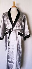 Men's Reversible Kimono Gown Robe Double-sided  with  Embroidered Dragon