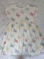 Hanna Andersson Girls Tulle Dress Size 160 14 Colorful Birds Embroidered