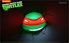 Teenage Mutant Ninja Turtles RAPHAEL 3D FX Deco Wall LED Night Light Lamp TMNT