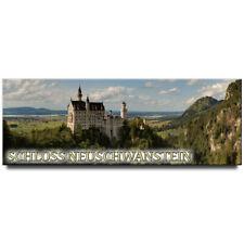 Neuschwanstein castle panoramic fridge magnet Germany travel souvenir