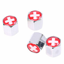 4x Switzerland Swiss National Flag Car Truck Wheel Tire Valve Stem Air Cap Cover