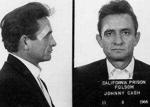Framed Print - Johnny Cash Police Mugshot (Celebrity Crime Picture Poster Music)